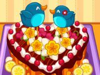 Herz Kuchen Beschmücken